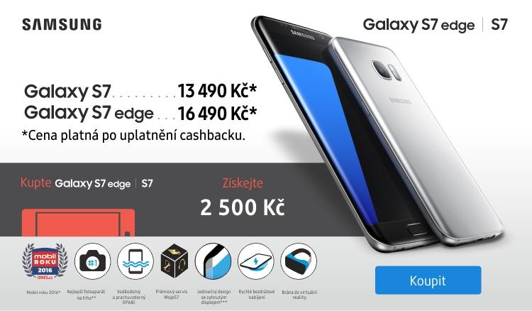 Galaxy S7 - získáte zpět 2500 Kč