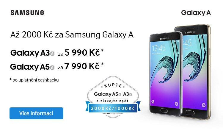 CASHBACK - Ušetřete až 2 000 Kč za Samsung A