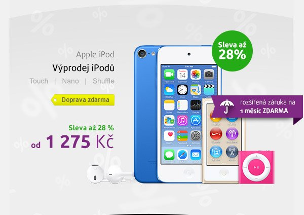 Apple iPod výprodej
